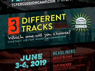 14th Annual Treasure Coast Percussion Camp!                June 3-6, 2019