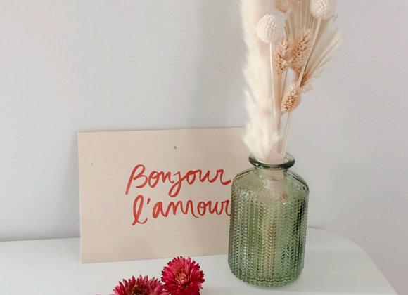 Soliflore et bouquet de fleurs séchées