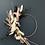 Thumbnail: Couronne de fleurs séchées sur cercle métal bronze