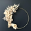 Thumbnail: Couronne de fleurs séchées sur cercle métal or