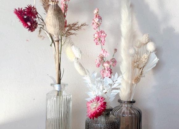 Trio soliflores fleurs séchées