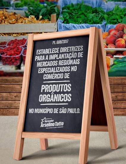 Implantação de mercados regionais de produtos orgânicos em cada prefeitura regional da cidade