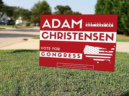 Red Yard Sign