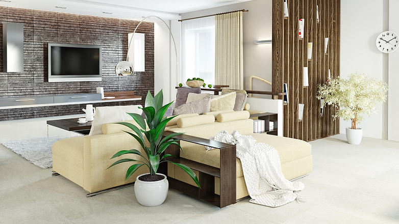 Beautifully designed living room by shosty