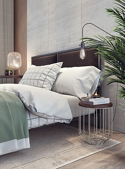 Bedroom Apartment Interior styling by Shosty