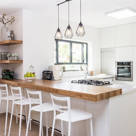 Functional kitchen designed for vacation rental