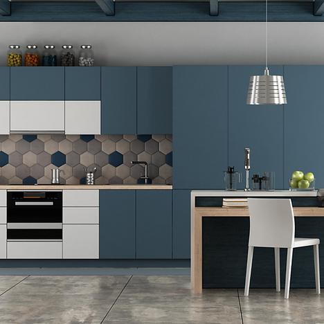 Short Term rental kitchen designed by shosty