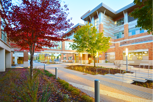 Photo of the ITC bulding at Western with fall colors