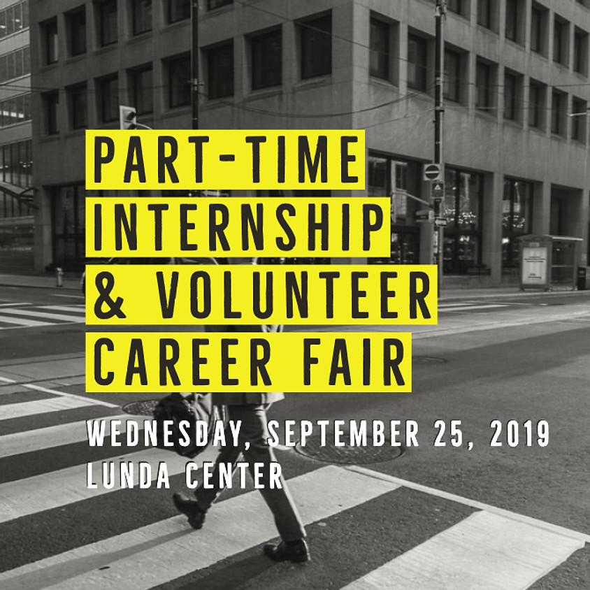Part-time, Internship and Volunteer Career Fair