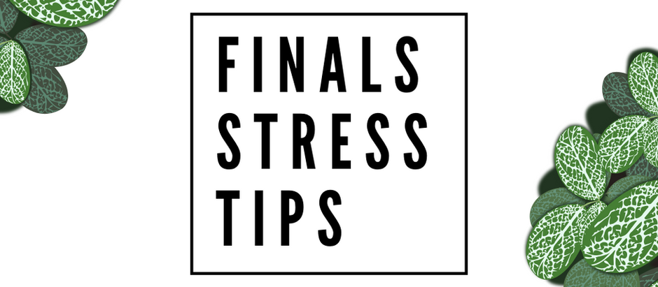 Stress Tips for Finals Week