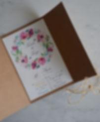 convite monograma floral