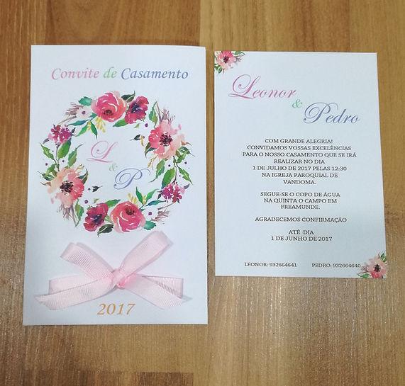 convite floral primavera