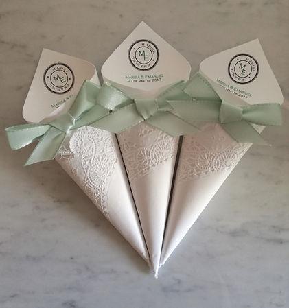 cones de arroz personalizados