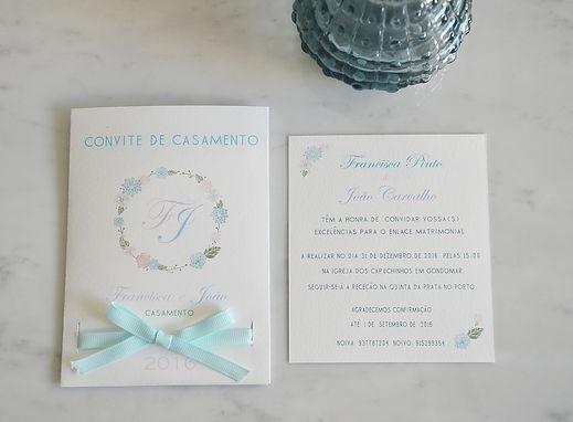 convite de casamento monograma