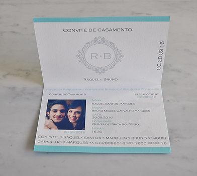 convite passaporte personalizado