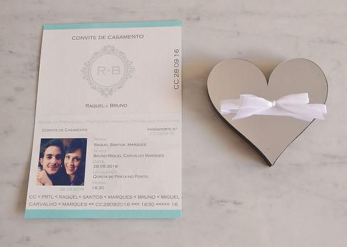 convite de casamento passaporte personalizado