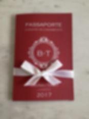 convite passaporte várias cores