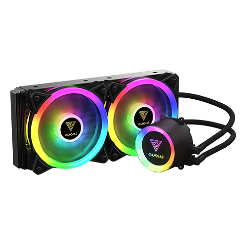 Gamdias CHIONE (M2-240R) 240mm Addressable RGB CPU Liquid Cooler with controller
