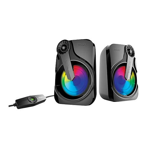 SONICGEAR Titan 2 (Black) 2.0 USB Speaker with Multi Color LED