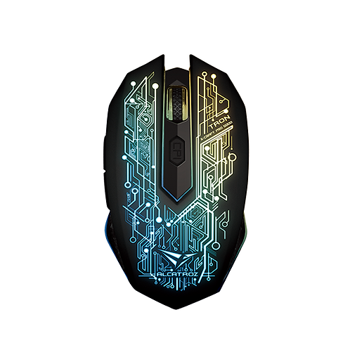 ALCATROZ X-Craft Galaxy 7-Colour Graphic Lighting USB Gaming Mouse