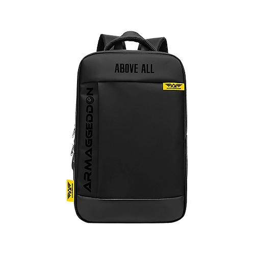 "Armaggeddon Shield-7 Black 15.6"" Laptop/Keyboard Backpack w/ number lock, usb po"