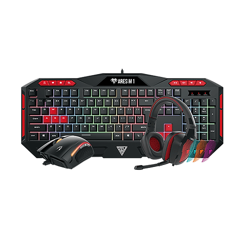 Gamdias POSEIDON M1 Gaming Combo 3-in-1 Illumination K/B+3200dpi Optical Mouse+S