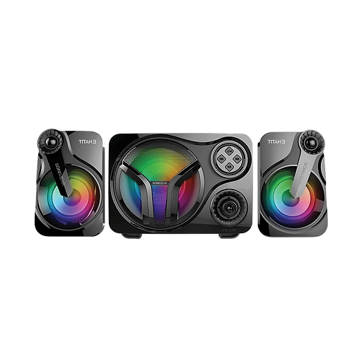 SONICGEAR Titan 3 (Black) 2.1 USB Speaker with Multi Color LED