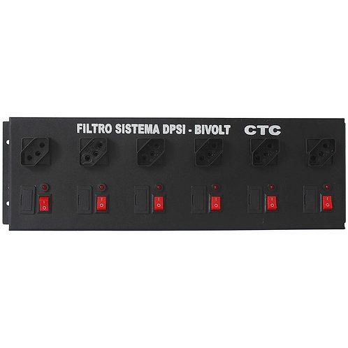 Filtro de Linha Sistema DPSI com 6 Tomadas Cabo 1,5m
