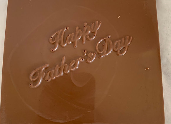 Happy Father's Day chocolate square