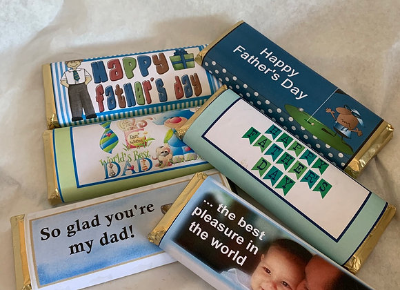 Chocolate Bars, Father's Day