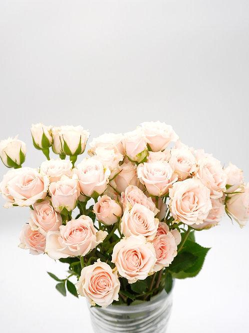 Spray Rose- White Majolika (40 cm)