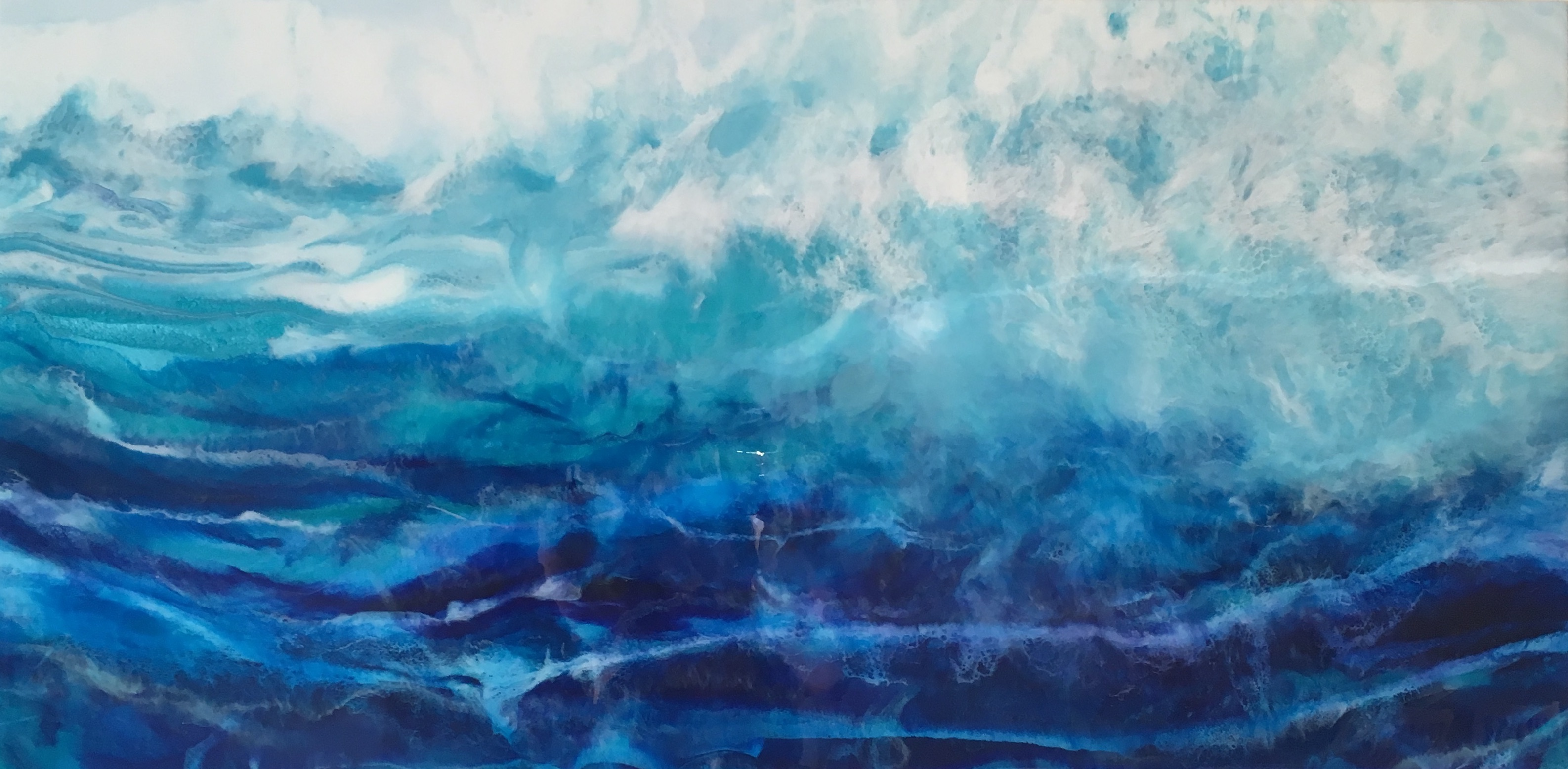 Louise Collier - Surf's Up - Resin art w