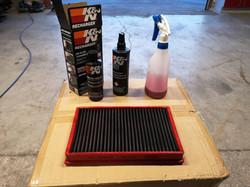 Nettoyage filtre à air sport.