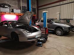 Porsche mécanique et entretien.
