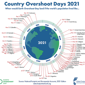 Am 29.07. ist Earth Overshoot Day 2021.