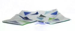 Origami Prato Cores frias 38X38 f