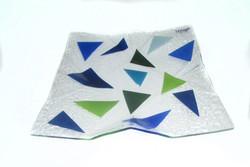 Origami Prato Cores frias 38X38 c