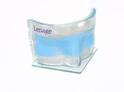 Máscara azul de vidro plano