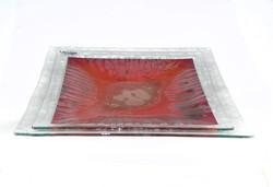 Metais Prato Quadrado Vermelho 40X40 c (2)