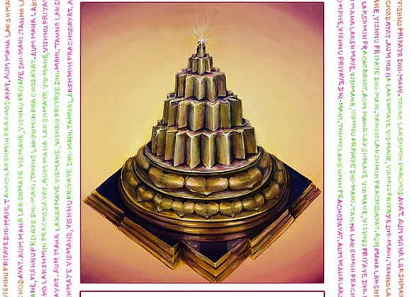 Meru Shree Yantra Card with information