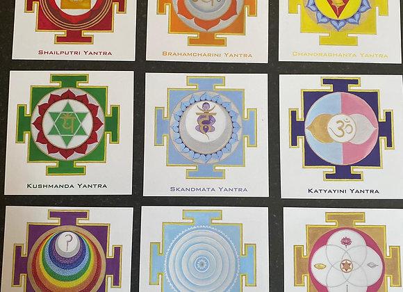 9 Goddess Yantra Cards set