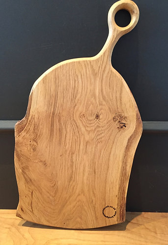 Large natural edge English Oak serving board