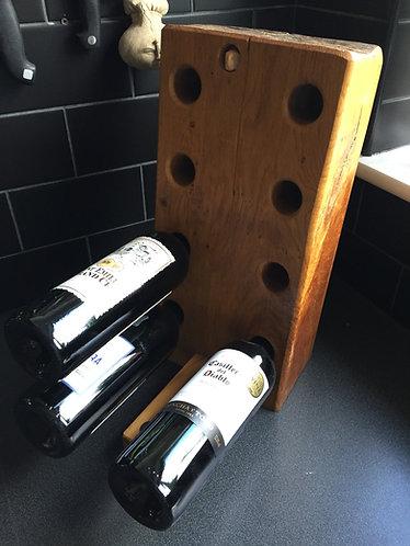 Chunky Oak wine rack