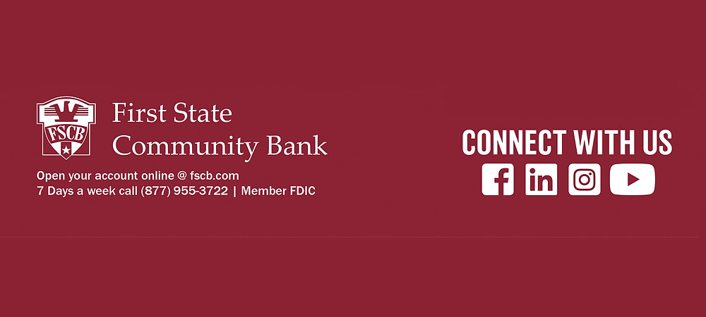 Advertisement for First State Community Bank click here to learn more