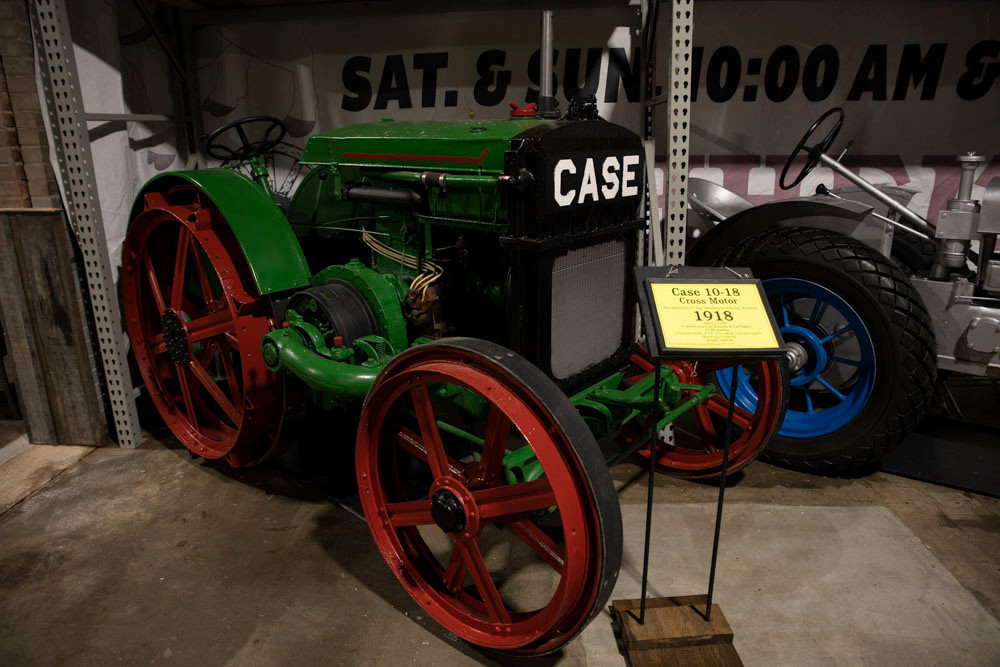 Antique Case 10-18 Cross Motor Tractor circa 1918 at the American Tractor Museum