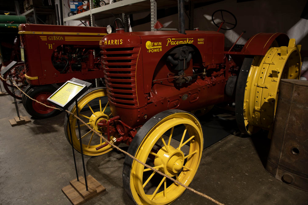 Antique Massey Harris Pacemaker Tractor sets shining like new at the American Tractor Museum