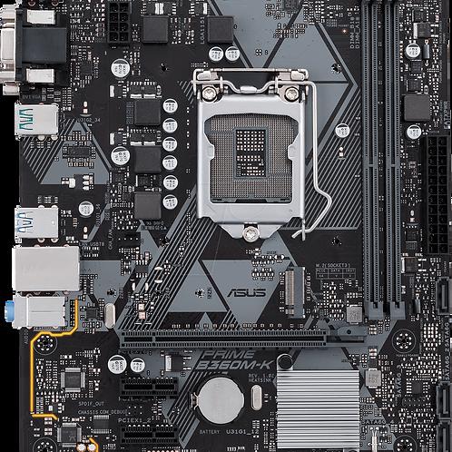 arjeta madre Intel B360 mATX con iluminación LED, socket LGA-1151, DDR4 a 2666MH