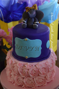 Hand Scultped Baby Shower Cake Top