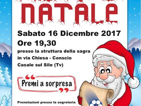 IL 16 DICEMBRE TRADIZIONALE FESTA DI NATALE DELLA NOSTRA SOCIETA': NON MANCATE