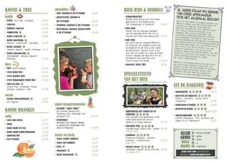 Van der Sterre - vormgeving menukaart en assortiment advies
